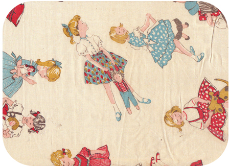 Vintage kids fabric on pinterest japanese fabric for Vintage childrens fabric by the yard