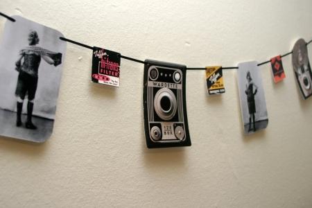 Vintage Camera Garland
