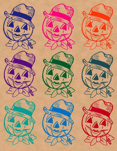 Pop Art Pumpkin Heads