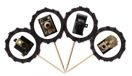 Retro Camera Cupcake