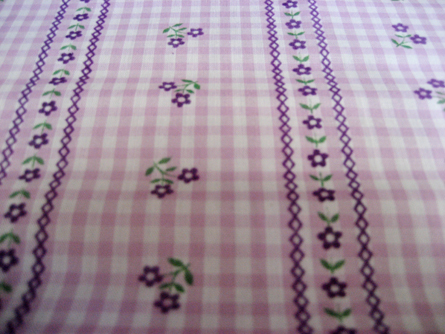 Vintage Flocked Fabric