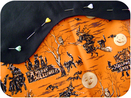 Retro Halloween Fabric
