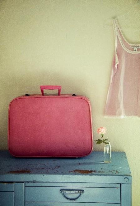 Vintage Pink Suitcase