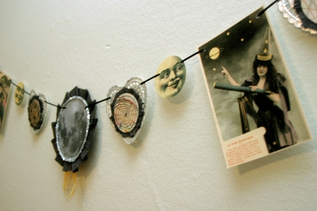 Vintage Space-Themed Muse Garland