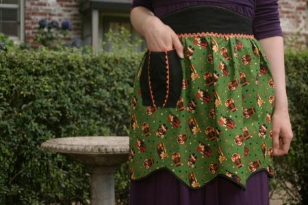 Vintage Inspired Halloween Apron