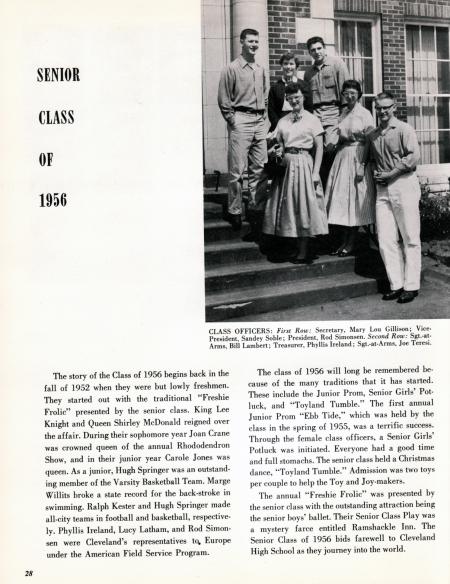 Vintage Cleveland High School Yearbook