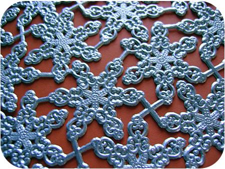 Silver Snowflake Cutouts