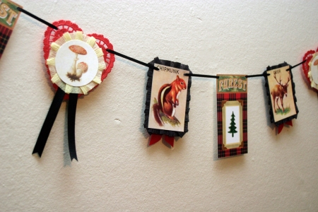 Retro Forest Animals Garland