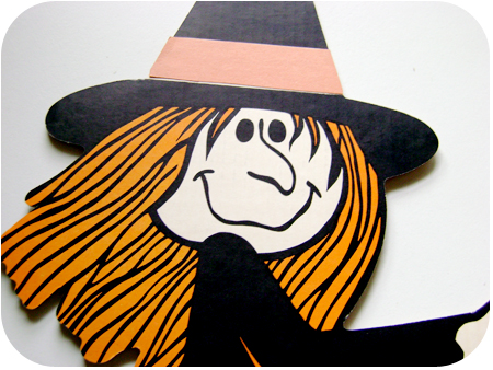 Retro Halloween Witch Decor