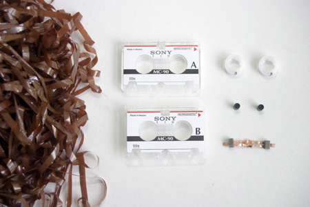 Parts of a Microcassette Tape