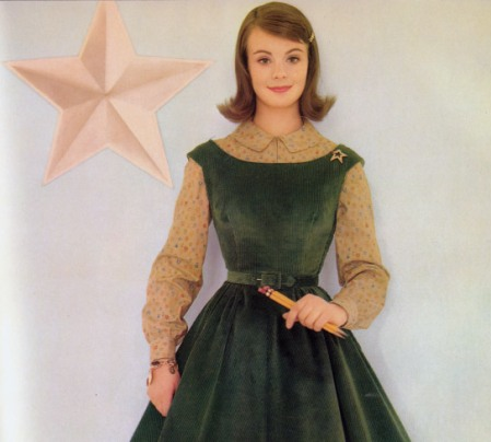 1960s Green Jumper Dress