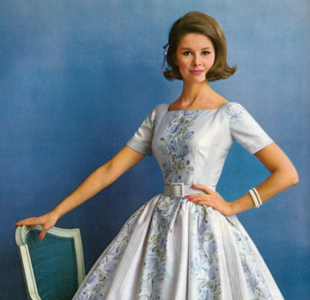 1960s Blue Dress