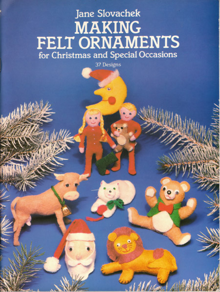 Vintage Booklet of Felt Ornament Patterns