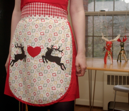 Vintage Inspired 1950s Holiday Apron
