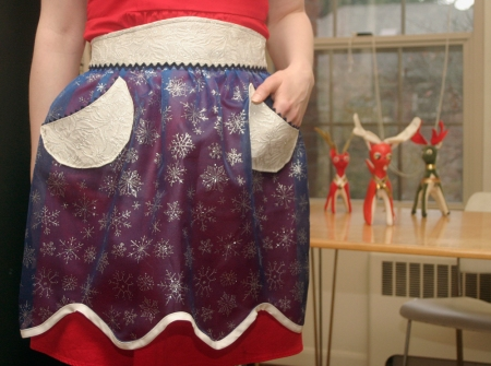 Winter Snowflake Christmas Apron