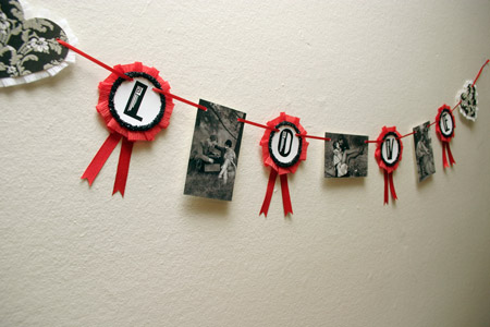 Red & Black Flapper LOVE Banner
