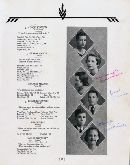 1934 Senior Class Radford High