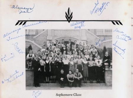 1934 Sophomores Radford High School