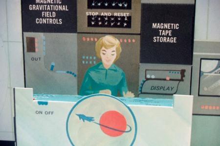 Retro Lady Astronaut