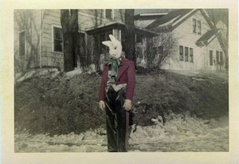 Vintage Creepy Easter Bunny Pictures