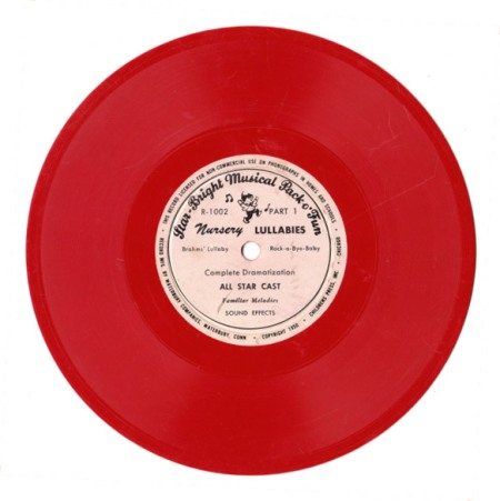 """Red Vintage Record """"Lullabyes"""""""