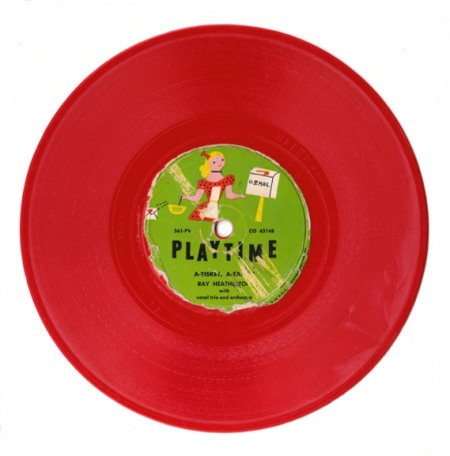 """Red Vintage Record """"Playtime"""""""