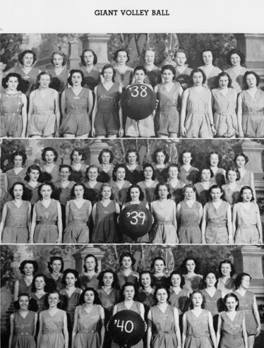 1938 Northeast Yearbook Giant Volleyball