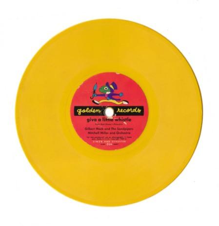 Yellow Vintage Record
