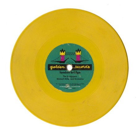"Yellow Vintage Record ""London Bridge"""