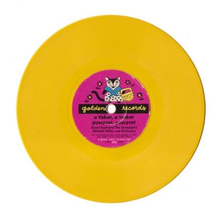 "Yellow Vintage Record ""Pussycat, Pussycat"""