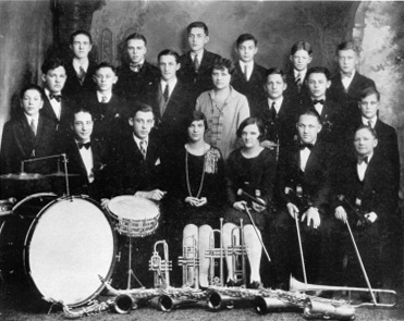 Vintage High School Band Photo