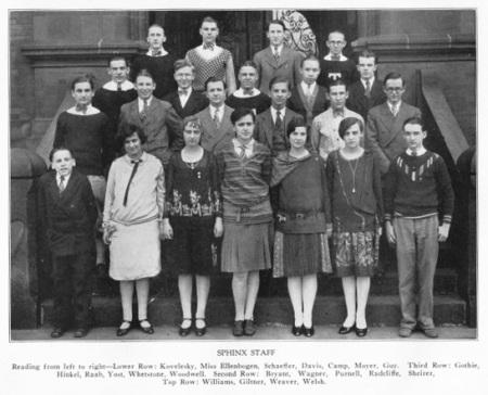 Vintage Yearbook Newspaper Staff