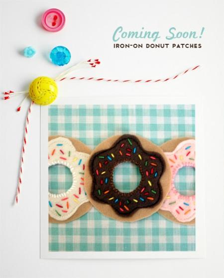 Felt Donut Iron-On Patches