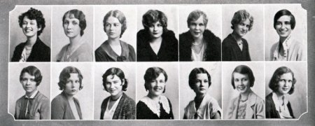 Vintage Yearbook 1930s Freshmen
