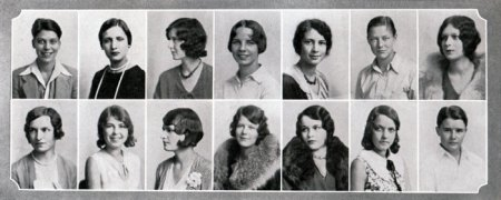 Vintage Yearbook 1930 Girls