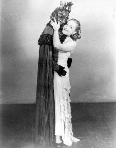 Vintage Lady & Devil