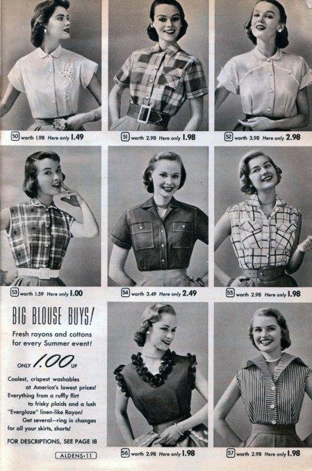 1950s Aldens Catalog Blouses