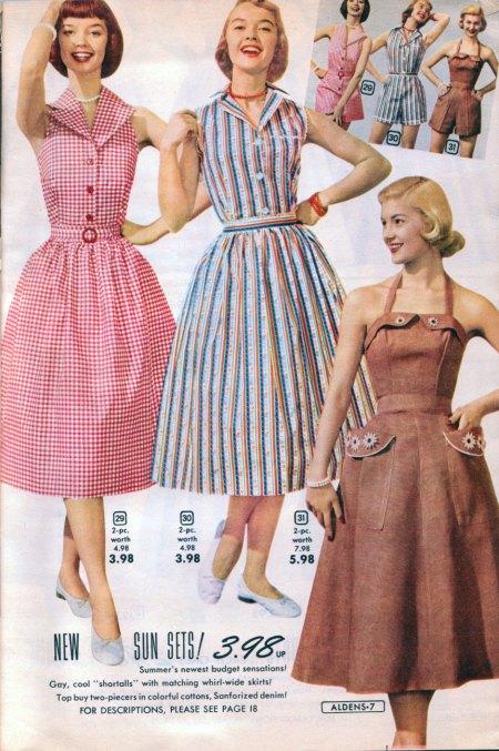 1953 Aldens Catalog Dresses