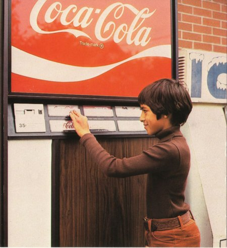 Vintage Soda Vending Machine 1970s
