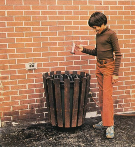 1970s Throwing Away Soda Cans