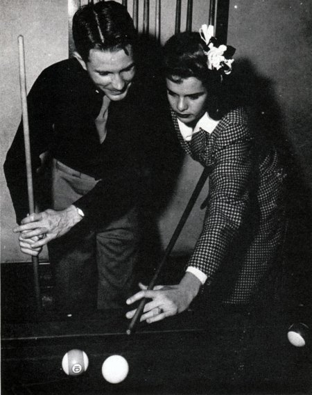 Vintage Couple Playing Pool