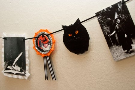Witch Black Cat Magic Halloween Home Decor