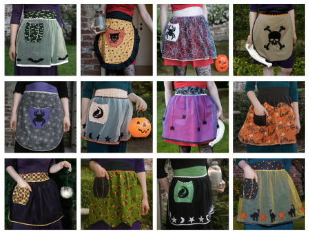 Vintage Inspired Halloween Aprons