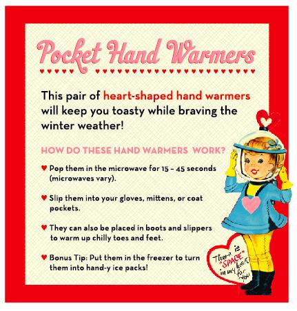 Pocket Handwarmers Instruction Sheet