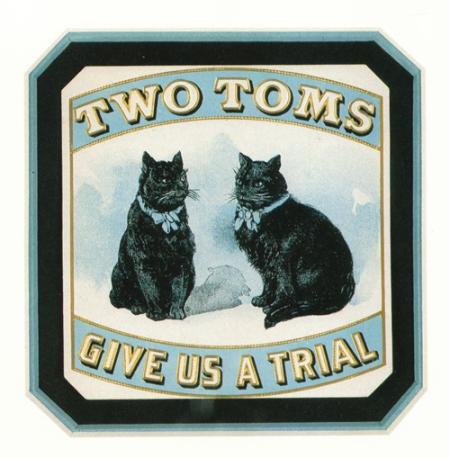 Two Toms Vintage Cigar Label