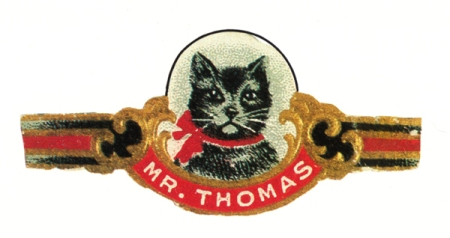 Vintage Mr. Thomas Cigar Label