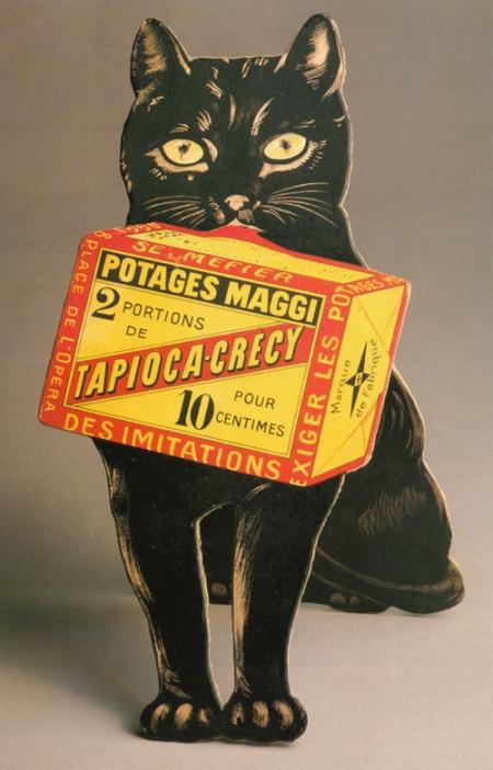 Vintage Maggi Soups Black Cat Advertisement
