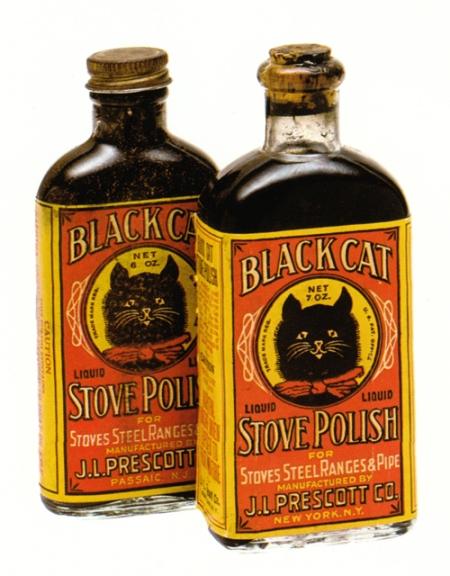 Vintage Black Cat Stove Polish