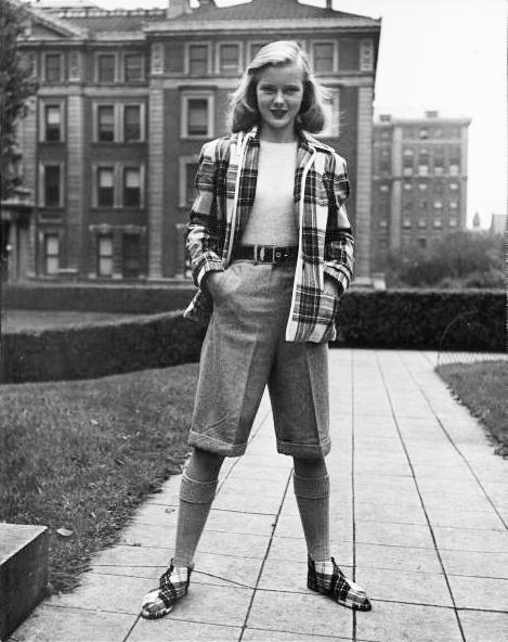 Badass Vintage Street Style 1940s Summer Tomboy Flapper Girl